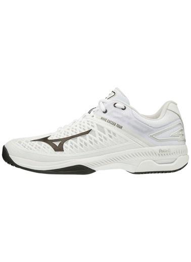 Mizuno Wave Exceed Tour 4 AC Unisex Tenis Ayakkabısı Beyaz Beyaz